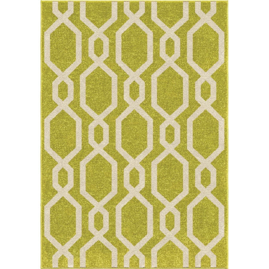 Lime Green Outdoor Area Rug: Shop Orian Rugs Cascades Lime Green Indoor/Outdoor Kids