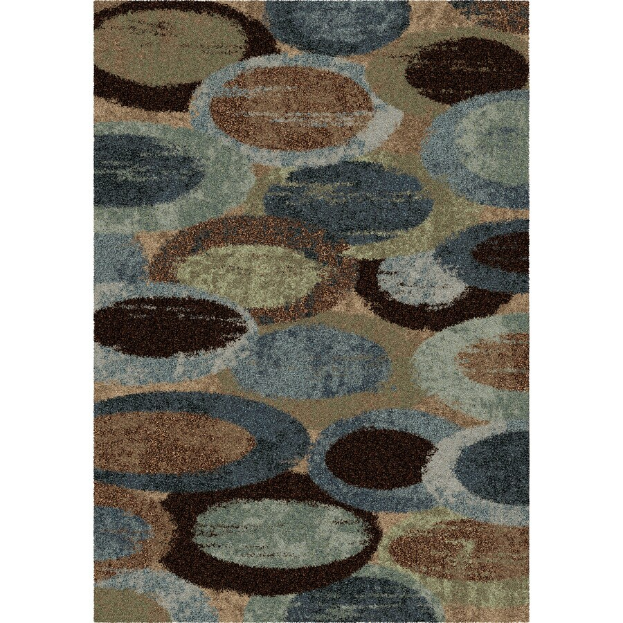 Orian Rugs Bubbly Blue Blue Rectangular Indoor Machine-made Novelty Area Rug (Common: 8 x 11; Actual: 7.83-ft W x 10.83-ft L)