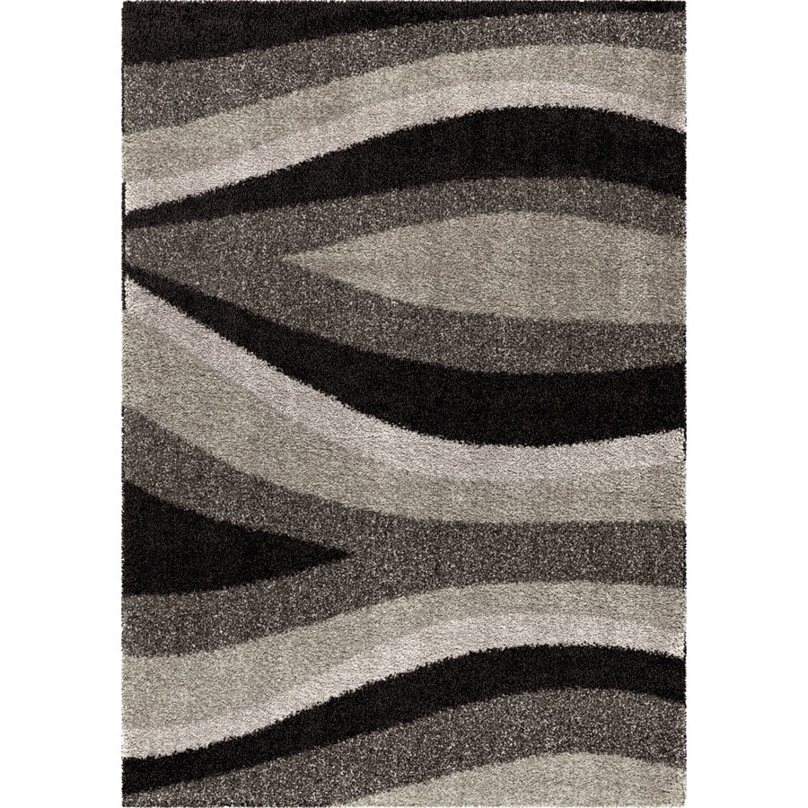 Orian Rugs Trailed Swirl BL/Gry Rectangular Indoor Machine-made Novelty Area Rug (Common: 5 x 8; Actual: 5.25-ft W x 7.5-ft L)