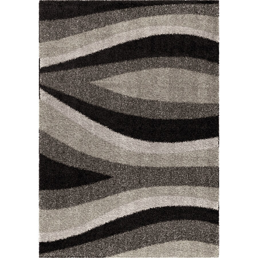 Orian Rugs Trailed Swirl BL/Gry Rectangular Indoor Machine-made Novelty Area Rug (Common: 8 x 11; Actual: 7.83-ft W x 10.83-ft L)