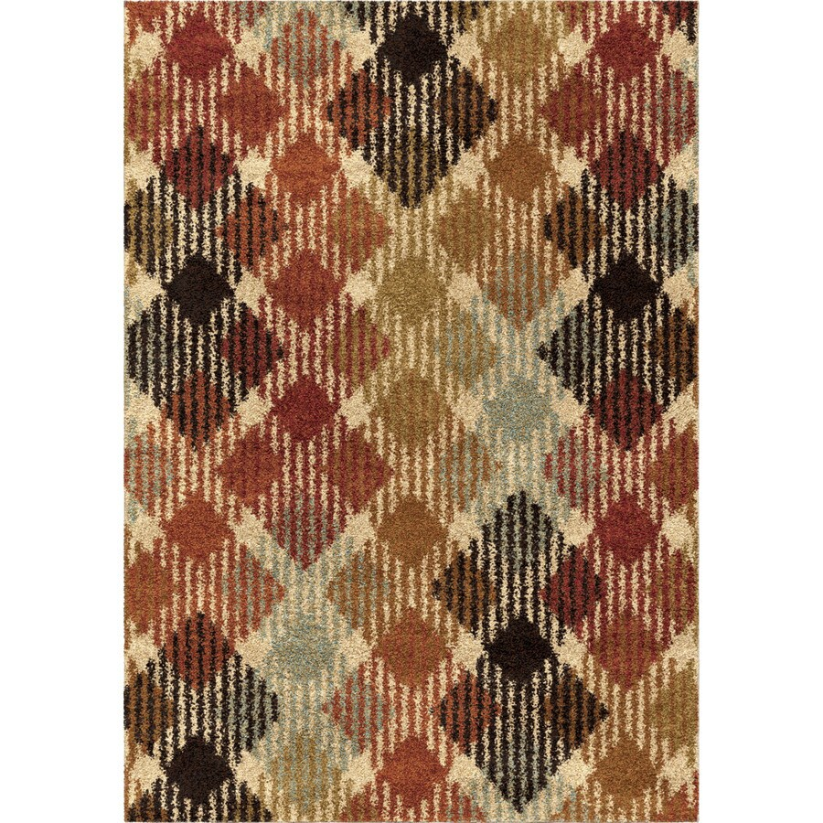 Orian Rugs Checkered Path Multi Rectangular Indoor Machine-made Novelty Area Rug (Common: 8 x 11; Actual: 7.83-ft W x 10.83-ft L)