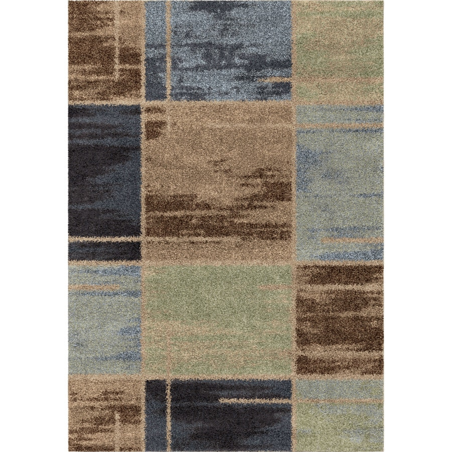 Orian Rugs Juke Blue Rectangular Indoor Machine-made Novelty Area Rug (Common: 8 x 11; Actual: 7.83-ft W x 10.83-ft L)