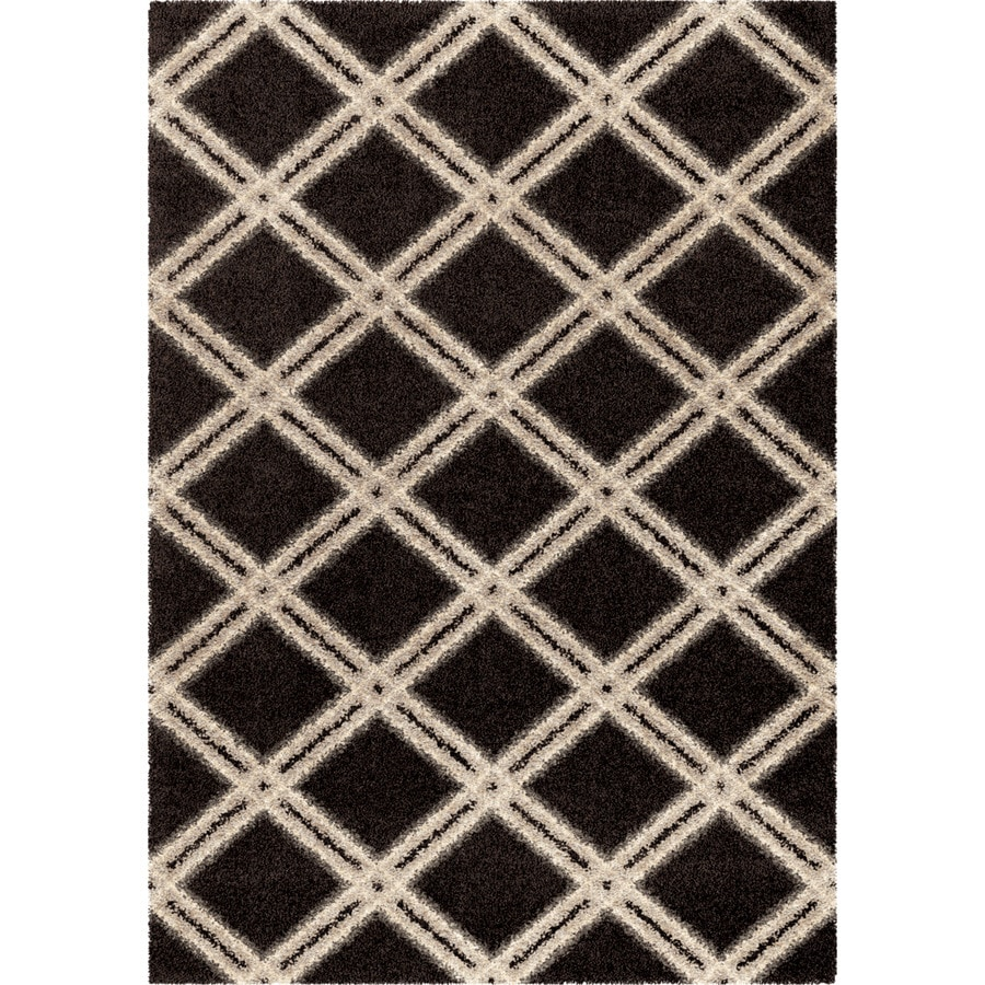 Orian Rugs Guarded Secret BL/Gry Rectangular Indoor Machine-made Novelty Area Rug (Common: 5 x 8; Actual: 5.25-ft W x 7.5-ft L)