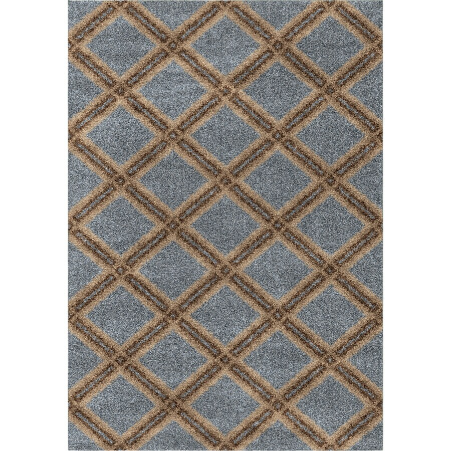 Orian Rugs Royal Shag Blue Rectangular Indoor Machine-Made Novelty Area Rug (Common: 8 x 11; Actual: 7.83-ft W x 10.83-ft L)