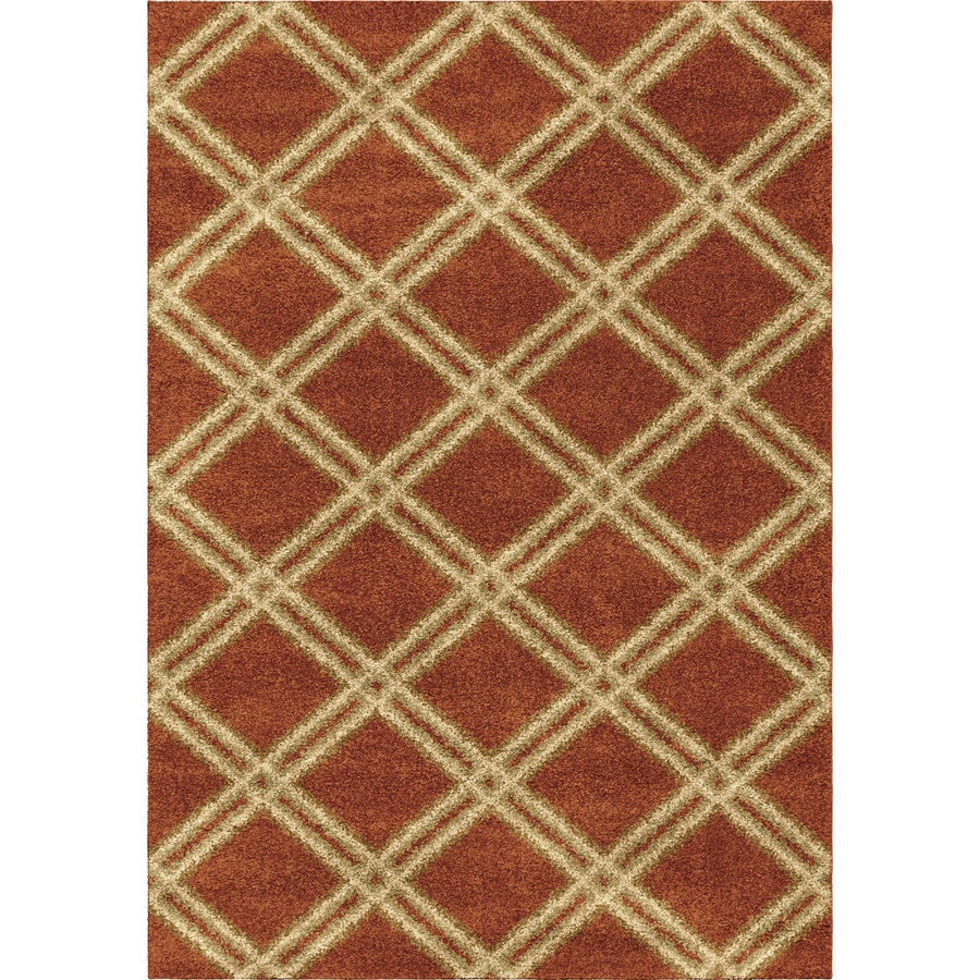 Orian Rugs Guarded Secret Orange Rectangular Indoor Machine-made Novelty Area Rug (Common: 5 x 8; Actual: 5.25-ft W x 7.5-ft L)