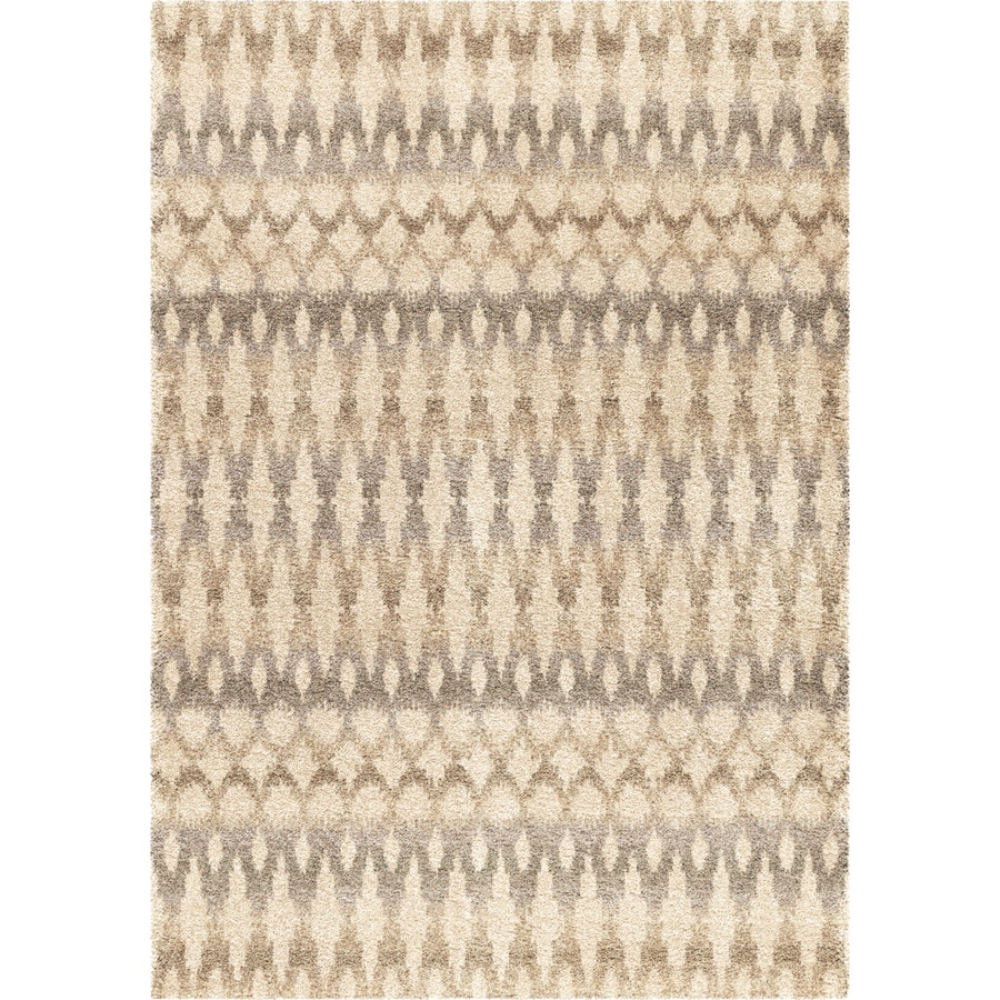 Orian Rugs Vibrant Ikat Ivory Rectangular Indoor Machine-made Southwestern Area Rug (Common: 5 x 8; Actual: 5.25-ft W x 7.5-ft L)