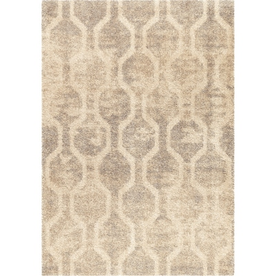 Linked Up Ivory Rectangular Indoor Machine Made Coastal Area Rug Common 8 X 11 Actual 7 83 Ft W 10 L