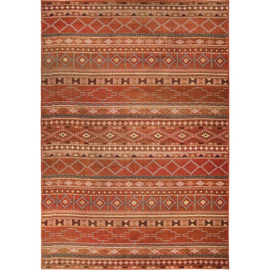 Orian Rugs Wild West Red Rectangular Indoor Machine-made Southwestern Area Rug (Common: 5 x 8; Actual: 5.25-ft W x 7.5-ft L)
