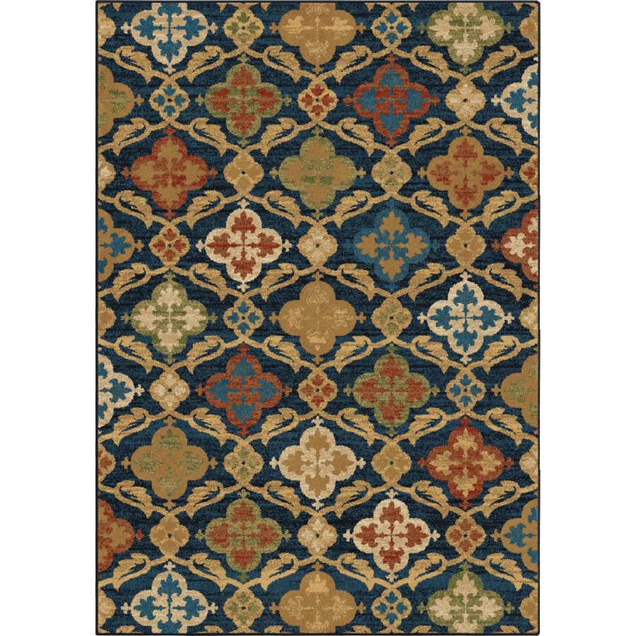 Orian Rugs Montorio Blue Rectangular Indoor Machine-made Nature Area Rug (Common: 5 x 8; Actual: 5.25-ft W x 7.5-ft L)
