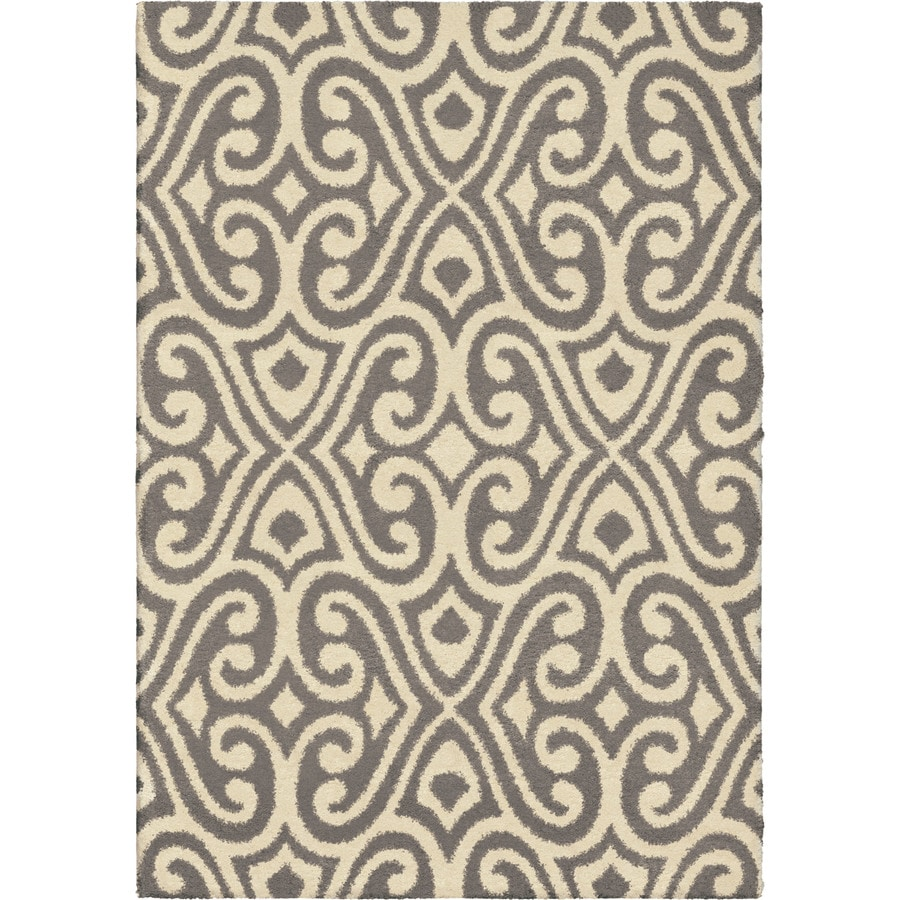 Orian Rugs Eutaw Taupe Rectangular Indoor Machine-made Novelty Area Rug (Common: 5 x 8; Actual: 5.25-ft W x 7.5-ft L)