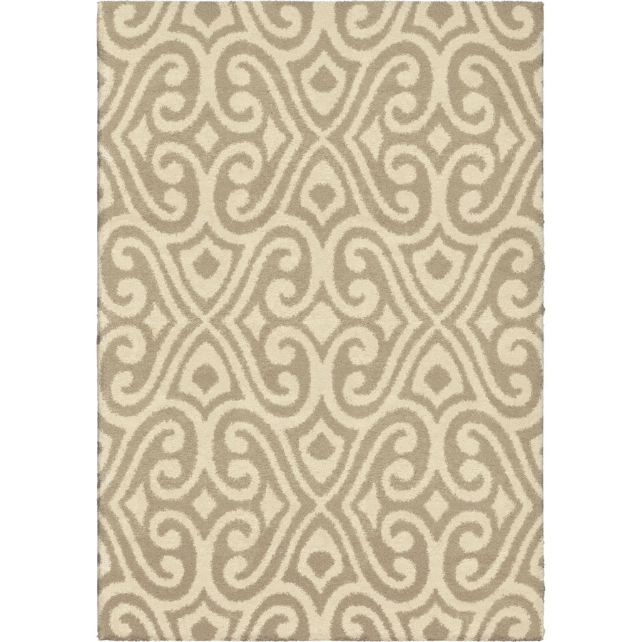 Orian Rugs Poise Tan Rectangular Indoor Machine-Made Novelty Area Rug (Common: 5 x 8; Actual: 5.25-ft W x 7.5-ft L x 0-ft Dia)