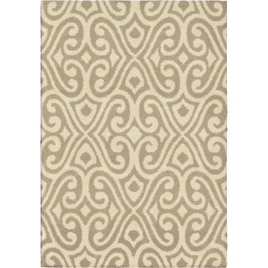 Orian Rugs Eutaw Tan Indoor Novelty Area Rug (Common: 8 x 11; Actual: 7.83-ft W x 10.83-ft L)