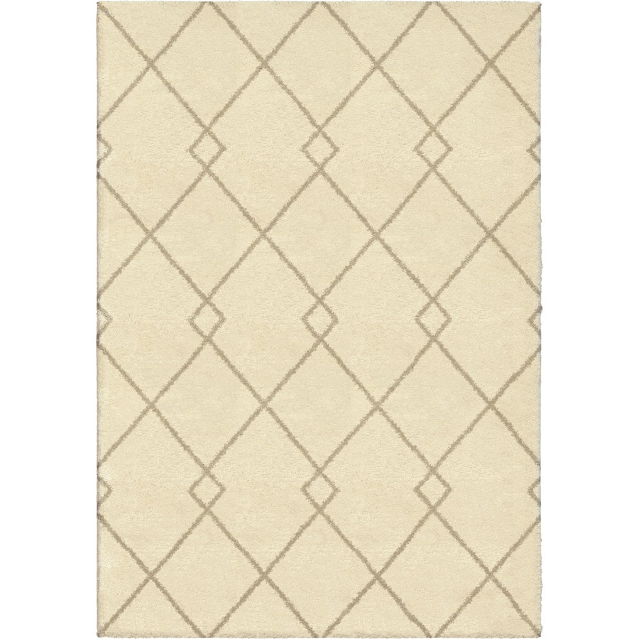 Orian Rugs Crossed Ties Ivory Rectangular Indoor Machine-made Novelty Area Rug (Common: 8 x 11; Actual: 7.83-ft W x 10.83-ft L)