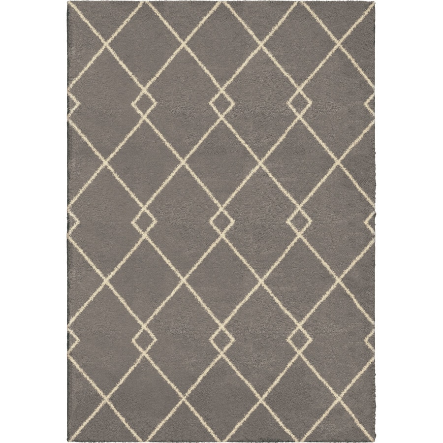 Orian Rugs Crossed Ties Taupe Rectangular Indoor Machine-made Novelty Area Rug (Common: 5 x 8; Actual: 5.25-ft W x 7.5-ft L)
