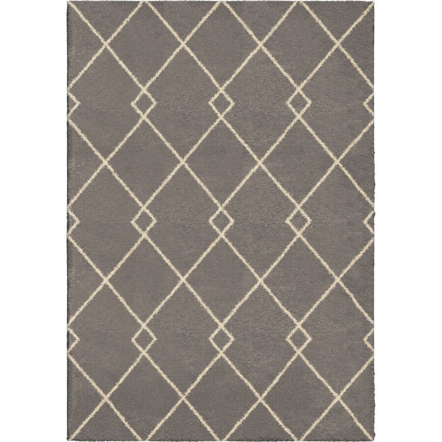 Orian Rugs Crossed Ties Taupe Rectangular Indoor Machine-made Novelty Area Rug (Common: 8 x 11; Actual: 7.83-ft W x 10.83-ft L)