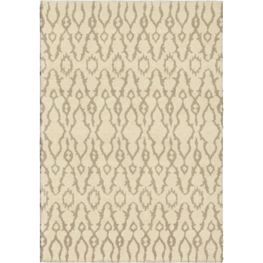 Orian Rugs Mable Ivory Rectangular Indoor Machine-made Novelty Area Rug (Common: 5 x 8; Actual: 5.25-ft W x 7.5-ft L)