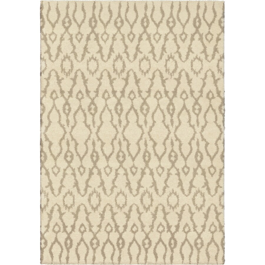 Orian Rugs Mable Ivory Rectangular Indoor Machine-made Novelty Area Rug (Common: 8 x 11; Actual: 7.83-ft W x 10.83-ft L)