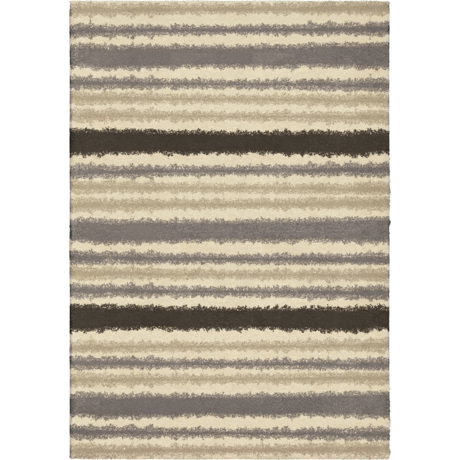 Orian Rugs Beauport Ivory Rectangular Indoor Machine-made Novelty Area Rug (Common: 5 x 8; Actual: 5.25-ft W x 7.5-ft L)