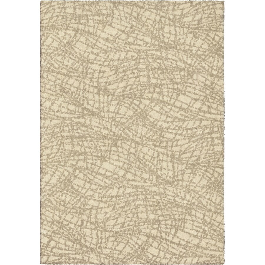 Orian Rugs Cracked Glass Ivory Indoor Novelty Area Rug (Common: 5 x 8; Actual: 5.25-ft W x 7.5-ft L)