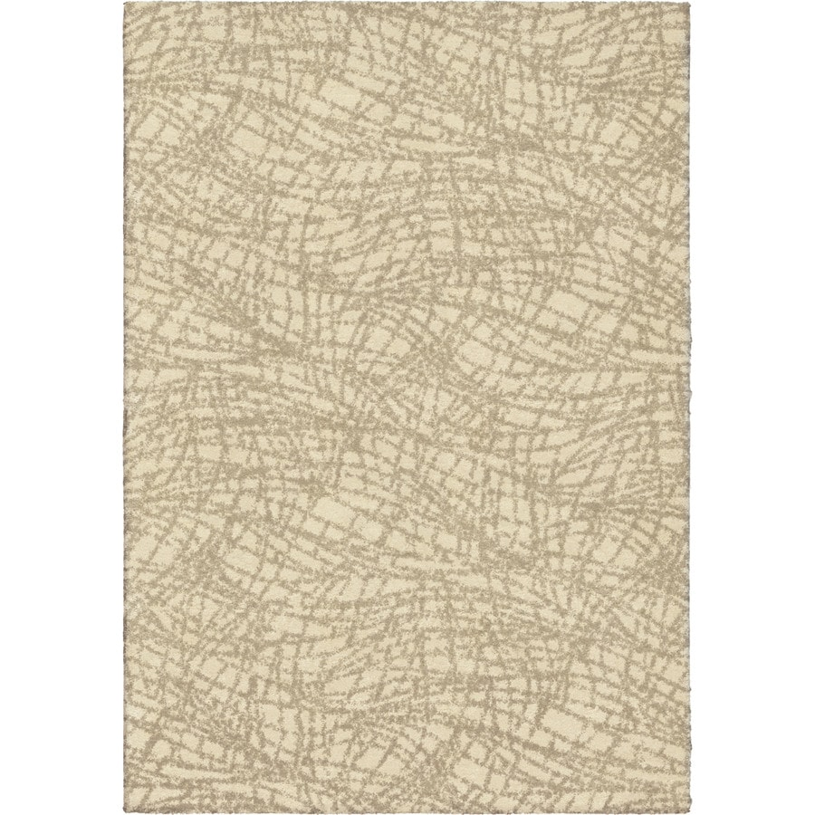 Orian Rugs Cracked Glass Ivory Rectangular Indoor Machine-made Novelty Area Rug (Common: 8 x 11; Actual: 7.83-ft W x 10.83-ft L)