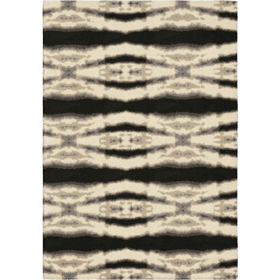 Orian Rugs Bengal Diamond Ivory Rectangular Indoor Machine-made Novelty Area Rug (Common: 5 x 8; Actual: 5.25-ft W x 7.5-ft L)