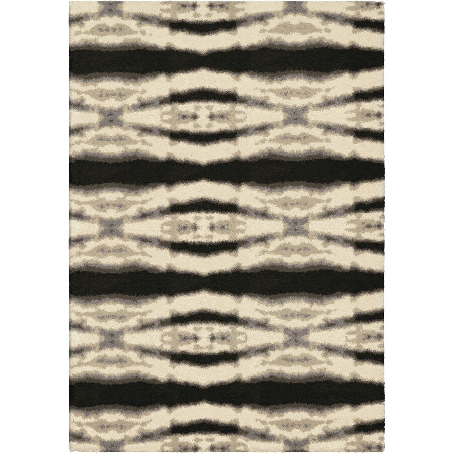 Orian Rugs Bengal Diamond Ivory Indoor Novelty Area Rug (Common: 8 x 11; Actual: 7.83-ft W x 10.83-ft L)