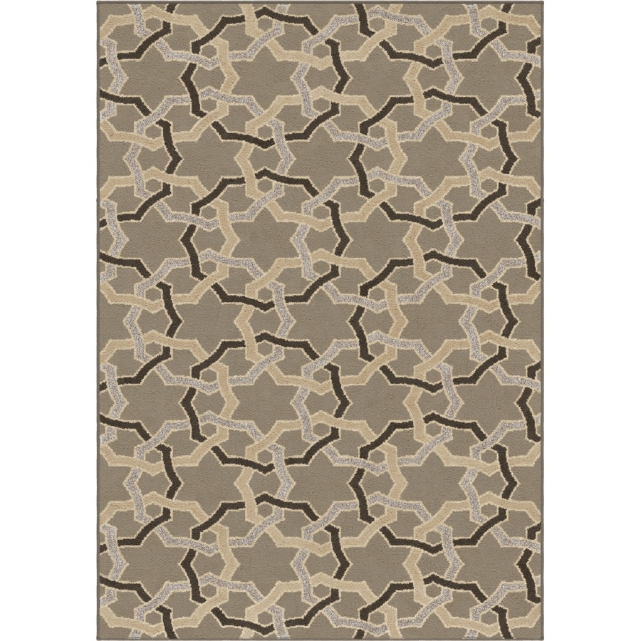 Orian Rugs Luxe Gray Rectangular Indoor Machine-made Novelty Area Rug (Common: 5 x 8; Actual: 5.25-ft W x 7.5-ft L)