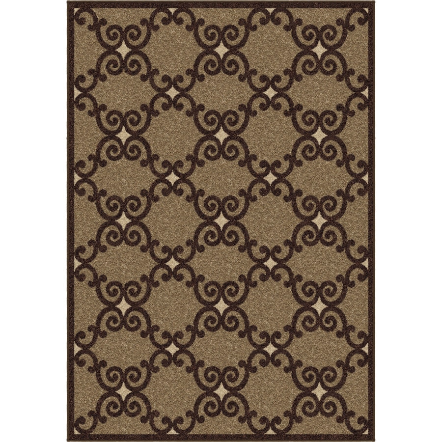 Orian Rugs Pylon Brown Rectangular Indoor Machine-made Novelty Area Rug (Common: 5 x 8; Actual: 5.25-ft W x 7.5-ft L)