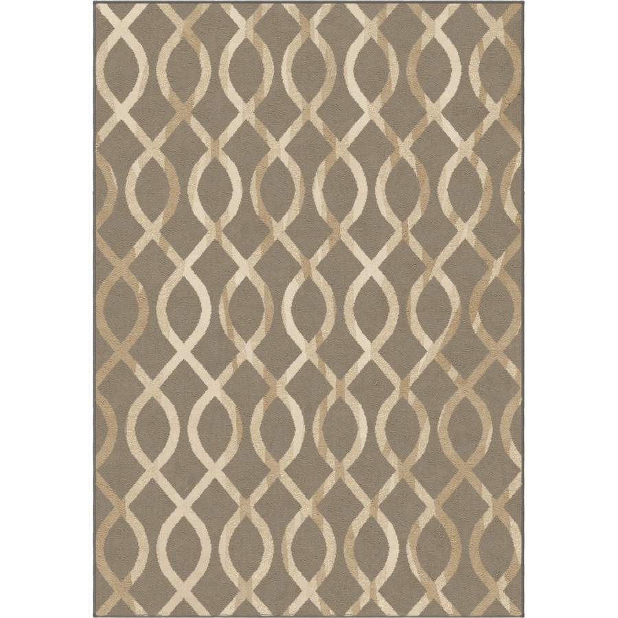 Orian Rugs Gianna Taupe Rectangular Indoor Machine-made Novelty Area Rug (Common: 5 x 8; Actual: 5.25-ft W x 7.5-ft L)