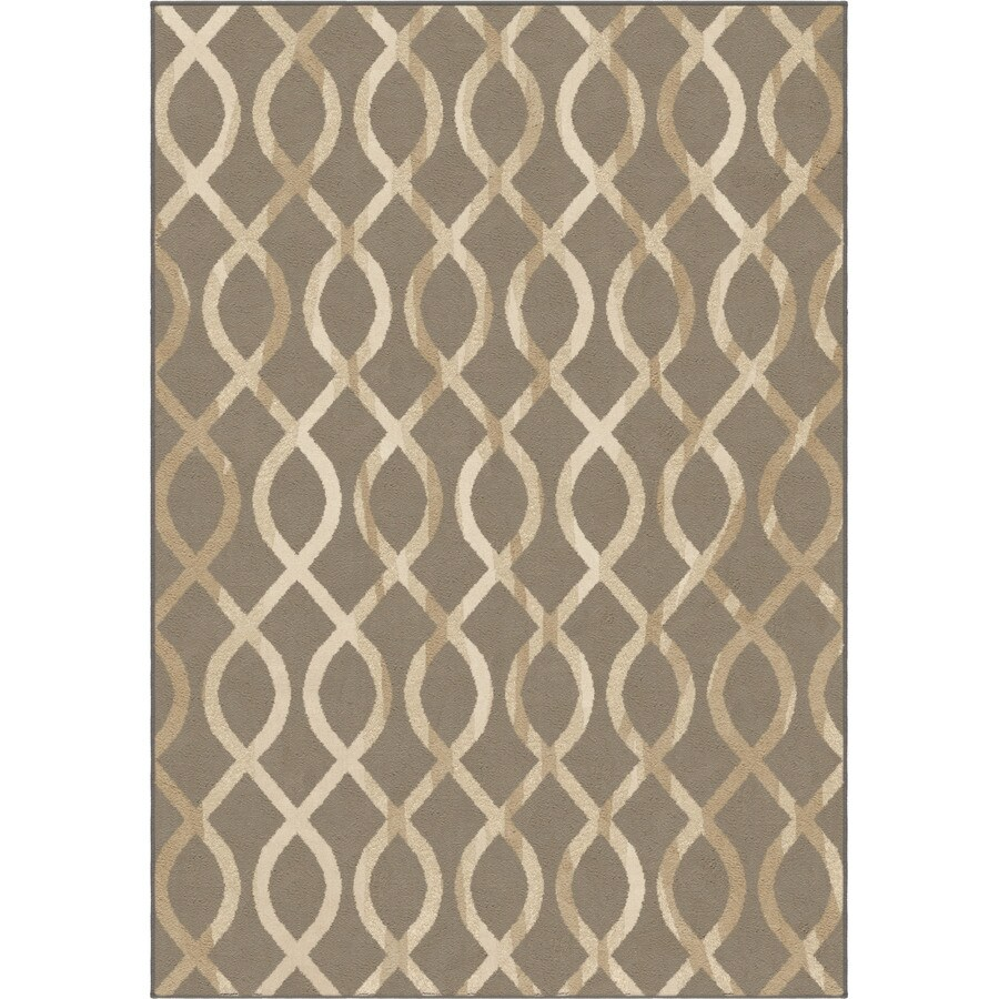 Orian Rugs Gianna Taupe Rectangular Indoor Machine-made Novelty Area Rug (Common: 8 x 11; Actual: 7.83-ft W x 10.83-ft L)
