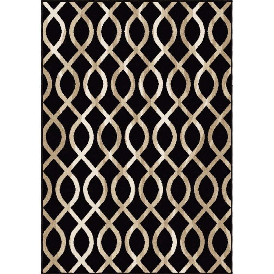 Orian Rugs Gianna Black Rectangular Indoor Machine-made Novelty Area Rug (Common: 8 x 11; Actual: 7.83-ft W x 10.83-ft L)