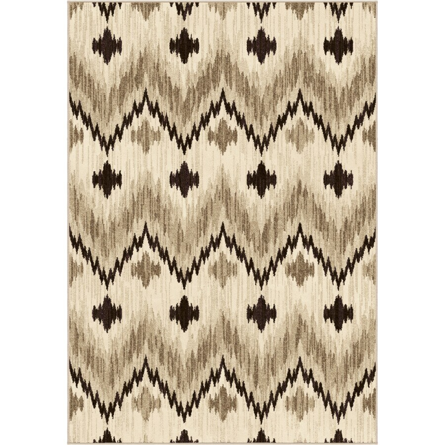 Orian Rugs Cottage Beige Rectangular Indoor Machine-made Novelty Area Rug (Common: 5 x 8; Actual: 5.25-ft W x 7.5-ft L)
