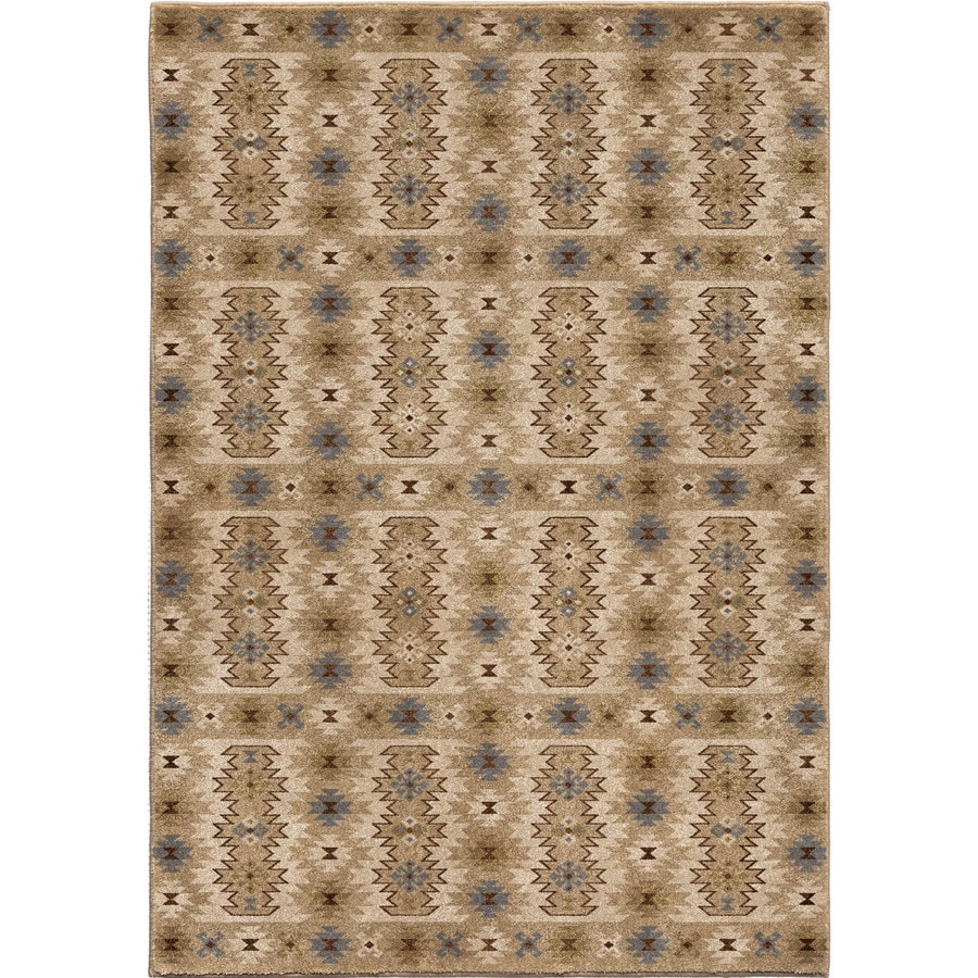 Orian Rugs Vivacious Beige Rectangular Indoor Machine-Made Southwestern Area Rug (Common: 5 x 8; Actual: 5-ft W x 7-ft L)