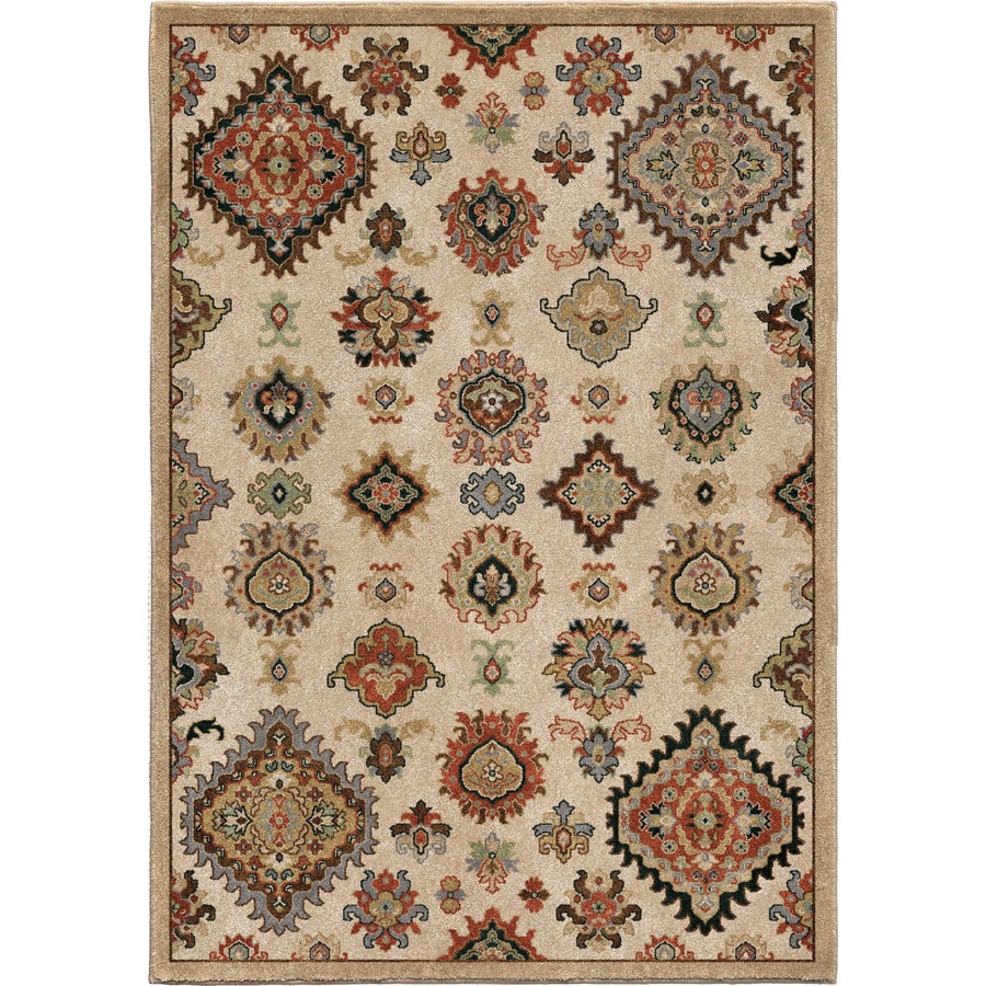 Orian Rugs Tangier Beige Rectangular Indoor Machine-made Southwestern Area Rug (Common: 8 x 11; Actual: 7.83-ft W x 10.83-ft L)