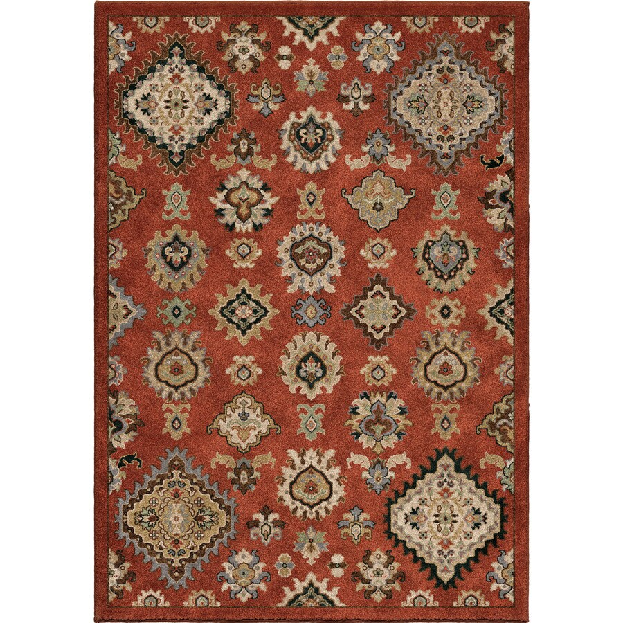Orian Rugs Tangier Burnt Red Rectangular Indoor Machine-made Southwestern Area Rug (Common: 8 x 11; Actual: 7.83-ft W x 10.83-ft L)