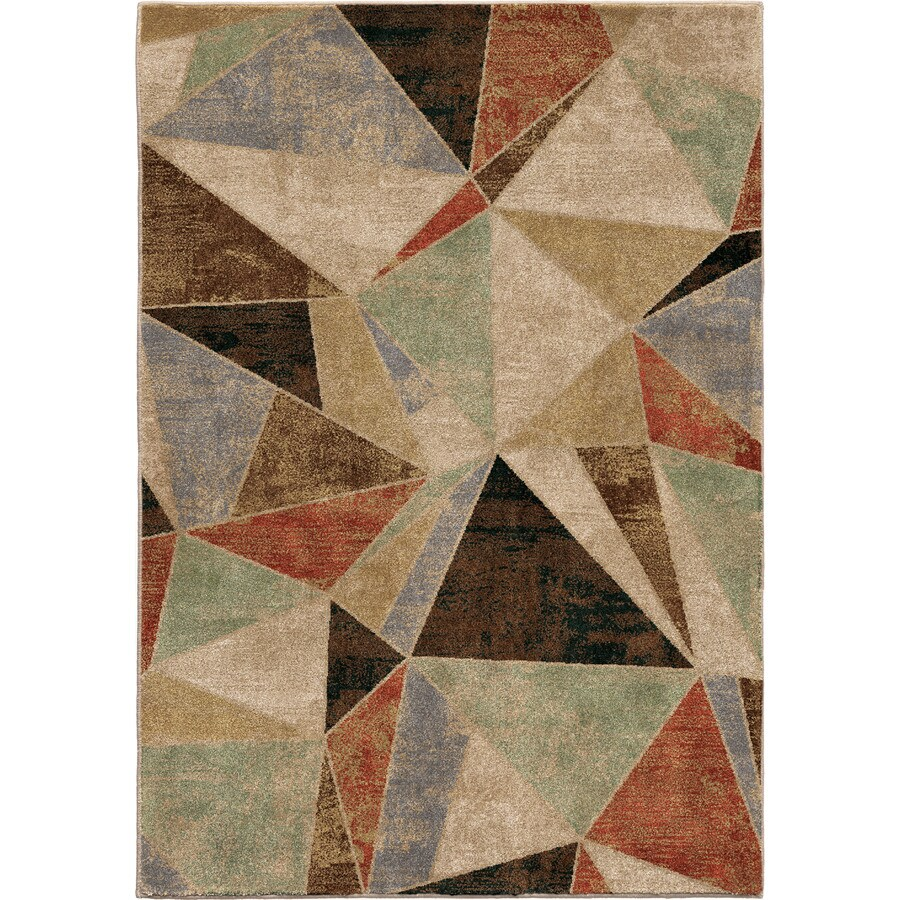 Orian Rugs Broken Pane Ivory Rectangular Indoor Machine-made Novelty Area Rug (Common: 5 x 8; Actual: 5.25-ft W x 7.5-ft L)