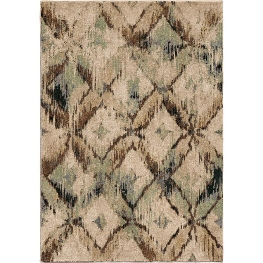 Orian Rugs Primera Beige Rectangular Indoor Machine-made Novelty Area Rug (Common: 5 x 8; Actual: 5.25-ft W x 7.5-ft L)