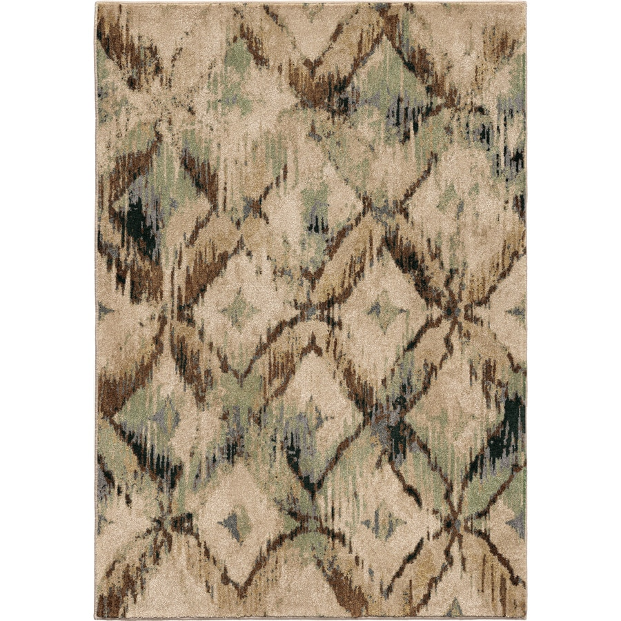 Orian Rugs Primera Beige Rectangular Indoor Machine-made Novelty Area Rug (Common: 8 x 11; Actual: 7.83-ft W x 10.83-ft L)