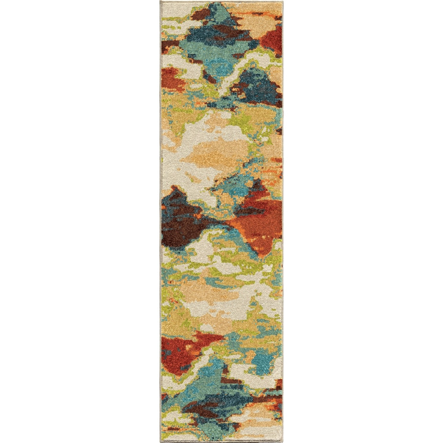 Orian Rugs Vibrant Mirage Multi Rectangular Indoor Machine-made Novelty Runner (Common: 2 x 8; Actual: 2.25-ft W x 8-ft L)