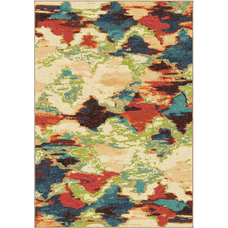Orian Rugs Vibrant Mirage Multi Rectangular Indoor Machine-made Novelty Area Rug (Common: 7 x 10; Actual: 6.58-ft W x 9.67-ft L)