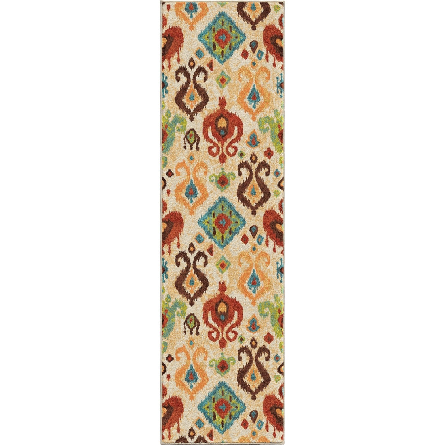 Orian Rugs Ancient Ivory Rectangular Indoor Machine-made Southwestern Runner (Common: 2 x 8; Actual: 2.25-ft W x 8-ft L)