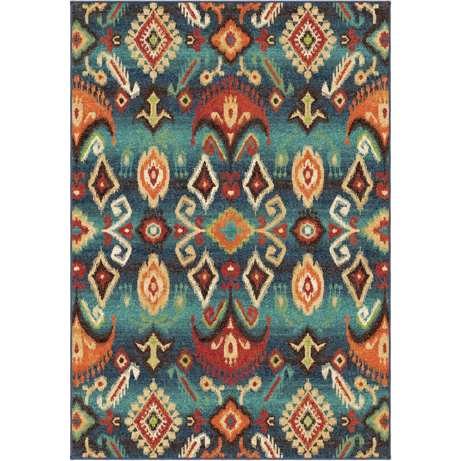 Orian Rugs Eastern Trad Multi Rectangular Indoor Machine-made Southwestern Area Rug (Common: 5 x 8; Actual: 5.25-ft W x 7.5-ft L)