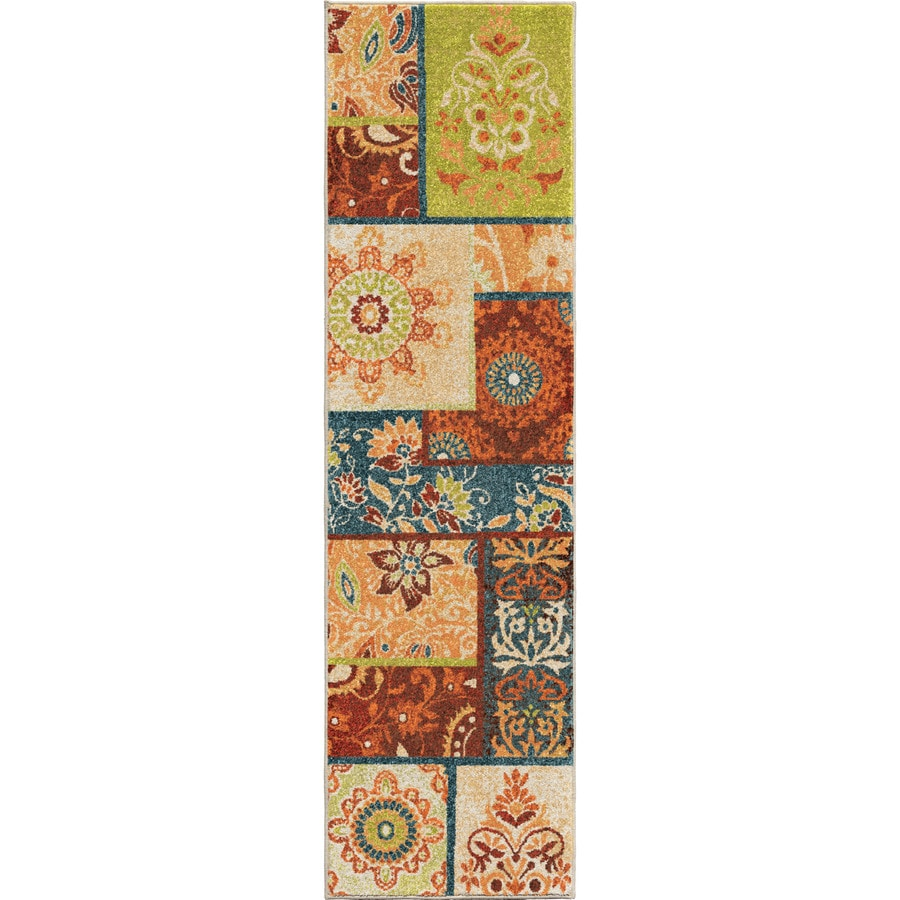 Orian Rugs Patchland Multi Rectangular Indoor Machine-made Novelty Runner (Common: 2 x 8; Actual: 2.25-ft W x 8-ft L)