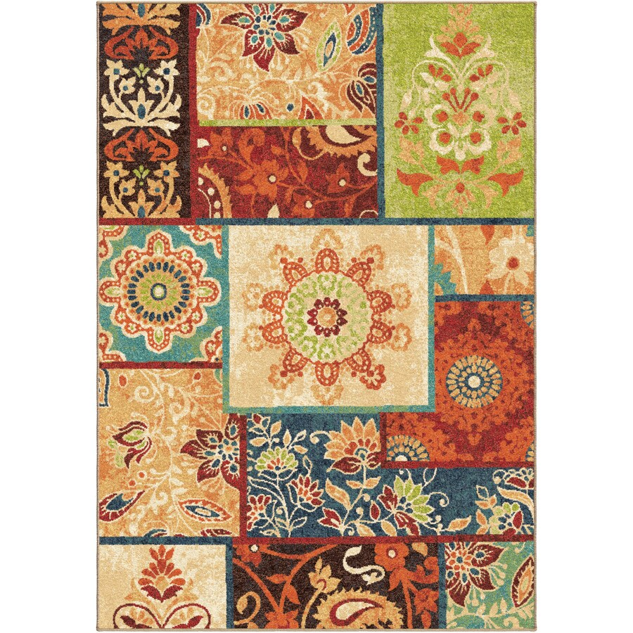 Orian Rugs Patchland Multi Rectangular Indoor Machine-made Novelty Area Rug (Common: 7 x 10; Actual: 6.58-ft W x 9.67-ft L)