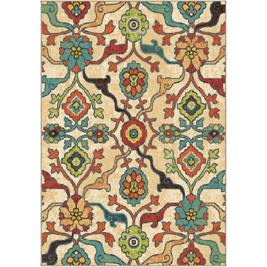 Orian Rugs Punjab Indoor Nature Area Rug (Common: 5 x 8; Actual: 5.25-ft W x 7.5-ft L)