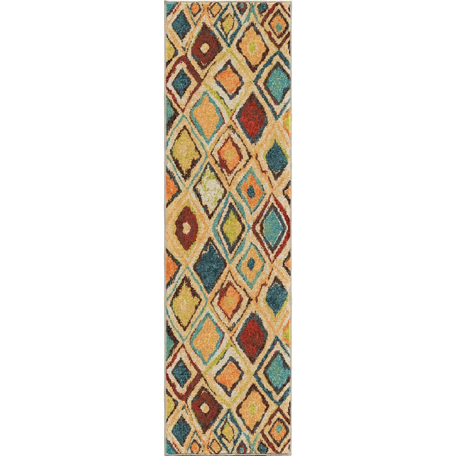 Orian Rugs Dazzl Diamond Multi Rectangular Indoor Machine-made Novelty Runner (Common: 2 x 8; Actual: 2.25-ft W x 8-ft L)