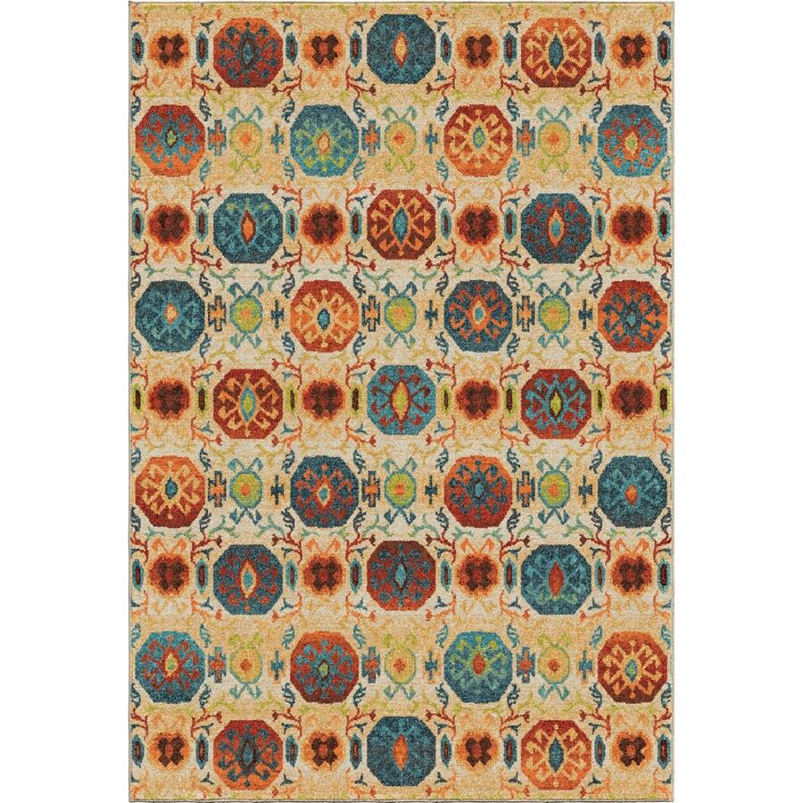 Orian Rugs Kalahari Multi Rectangular Indoor Machine-made Novelty Area Rug (Common: 8 x 11; Actual: 7.83-ft W x 10.83-ft L)