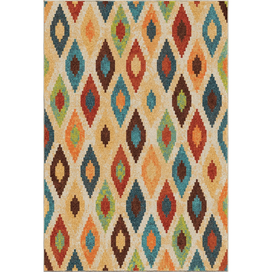 Orian Rugs Aspect Twists Multi Rectangular Indoor Machine-made Novelty Area Rug (Common: 5 x 8; Actual: 5.25-ft W x 7.5-ft L)