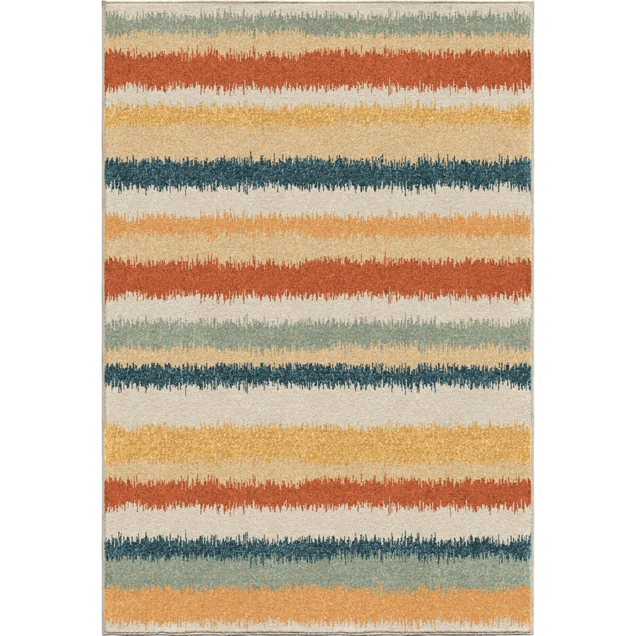 Orian Rugs Henley Multi Rectangular Indoor Machine-made Novelty Area Rug (Common: 8 x 11; Actual: 7.83-ft W x 10.83-ft L)