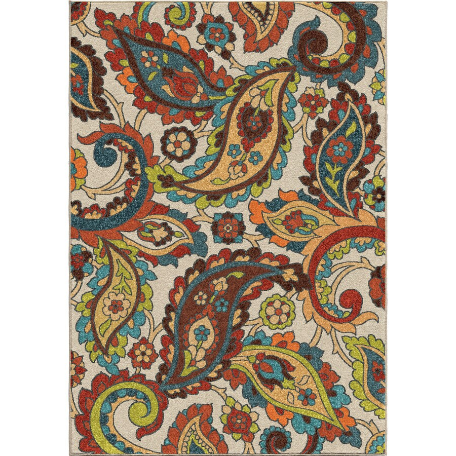 Orian Rugs Wafted Colors Multi Rectangular Indoor Machine-made Nature Area Rug (Common: 8 x 11; Actual: 7.83-ft W x 10.83-ft L)